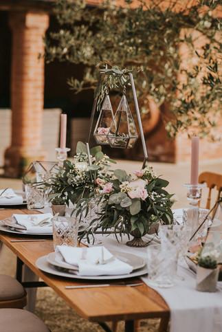 hanging terrarium weddings
