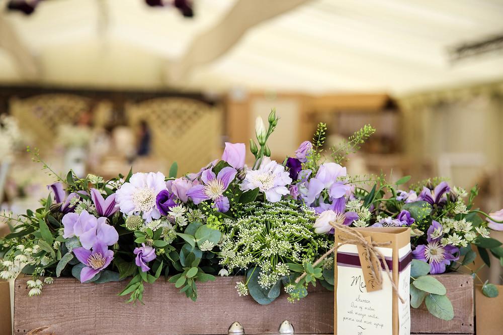 purple wedding flowers leicester