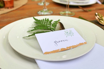 woodland wedding copper luxe stationery