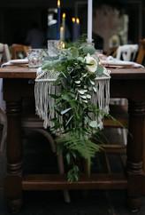 macrame table runner wedding