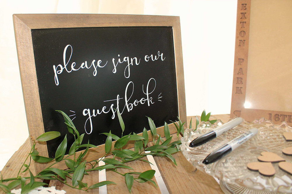 guest book chalkboard ideas
