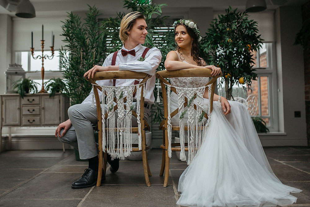 macrame chair backs cross backed chairs bride and groom