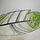 Thumbnail: Green tip fused glass feather
