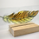 Thumbnail: Amber fused glass feather