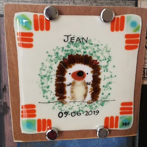 Baby name and date plaque