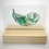 Thumbnail: Green fused glass feather