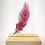Thumbnail: Ruby pink fused glass feather