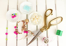 Workplace of jewellery  maker close-up.j