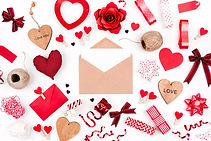 Happy Valentine's Day red envelope with