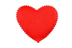 Red heart from a fabric isolated.jpg