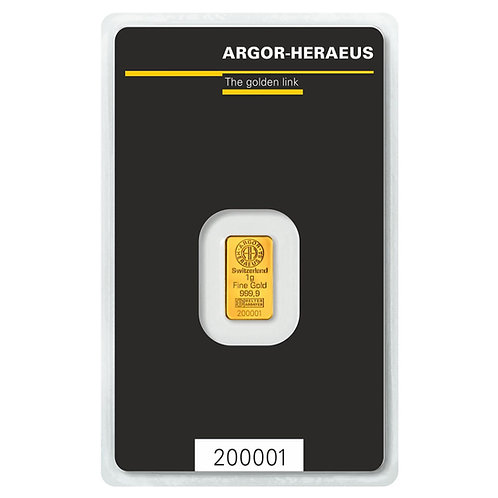 1 gram zlatna poluga - Argor Heraeus
