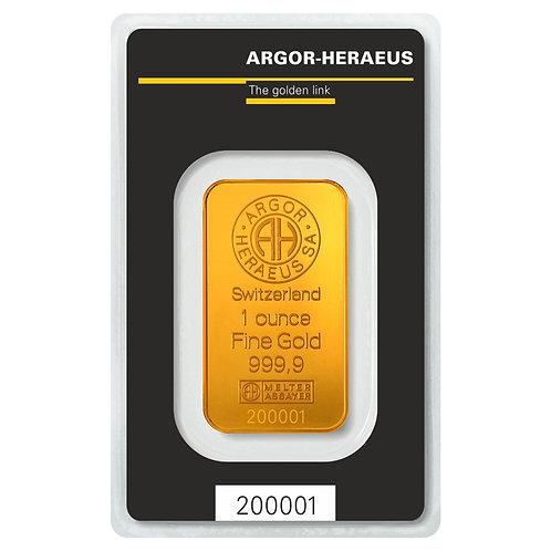 1 unca zlatna poluga - Argor Heraeus