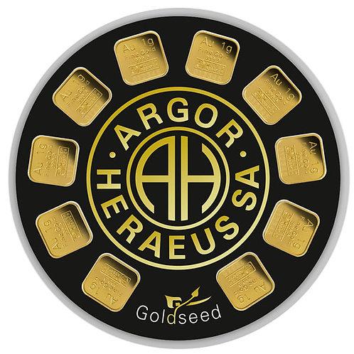 10x1 gram zlatna poluga - Argor Heraeus