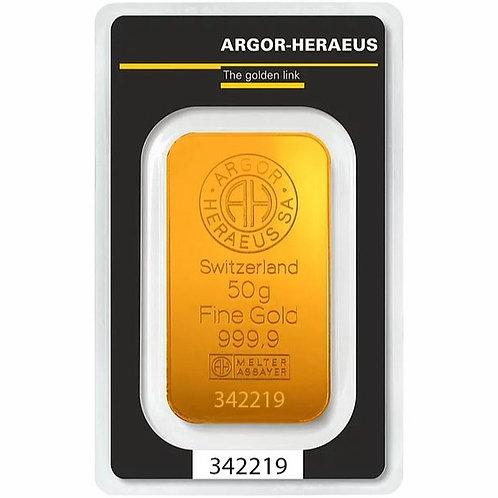 50 grama zlatna poluga - Argor Heraeus