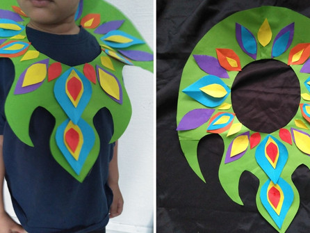 How to make a carnival leaf collar