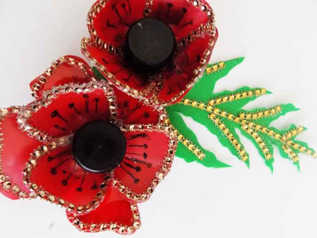 Make a carnival celebration poppy out of recycled materials