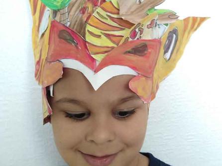 Easy DIY Dinosaur Headdress Tutorial