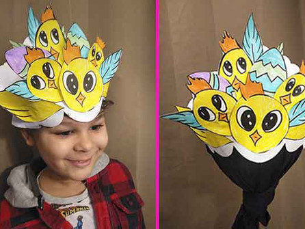 How to make an Easter Chick headdress from paper