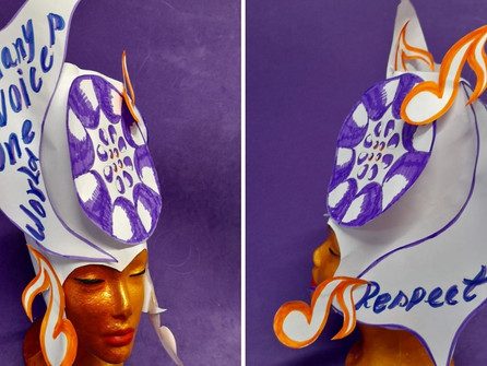 How to make a steel pan carnival head piece