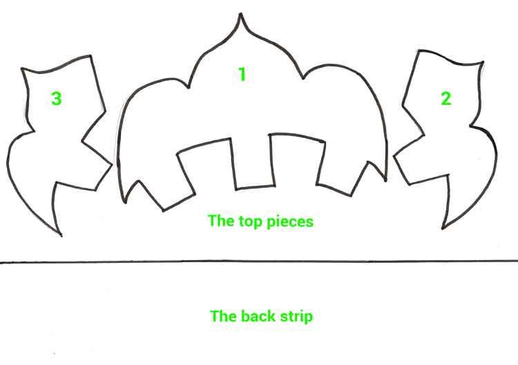 Template for carnival headdress
