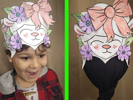 How to make a carnival inspired Easter Lamb headdress