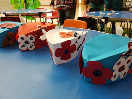 Make a VE Day Carnival celebration hat from paper