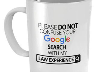 Confusing Google Searches with a Law Degree