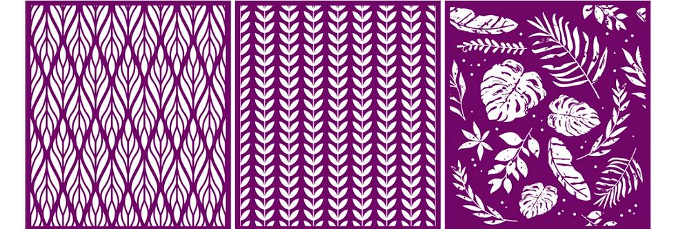 "Botanical - Silk Screen Stencils - 8"" X 10"""