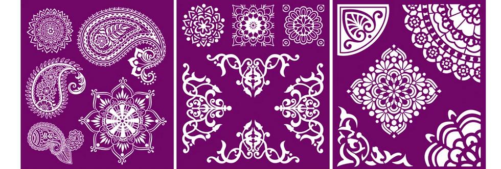 "Mosaic - Silk Screen Stencils - 8"" X 10"""