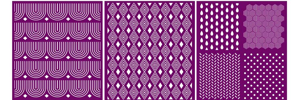"Patterns - Silk Screen Stencils - 8"" X 10"""