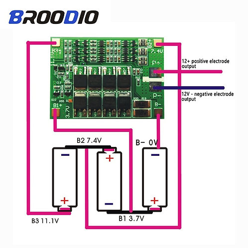 Lithium Battery Protection Board Balanced Version for Drill Motor 40A Current