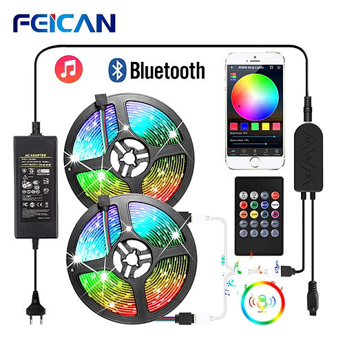 LED Strip RGB 5050 2835 Bluetooth LED Light Strip Music Sync LED Lights Sound