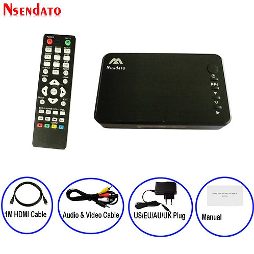 Mini Full HD Media Multimedia  1080P USB External HDD Media Player With HDMI