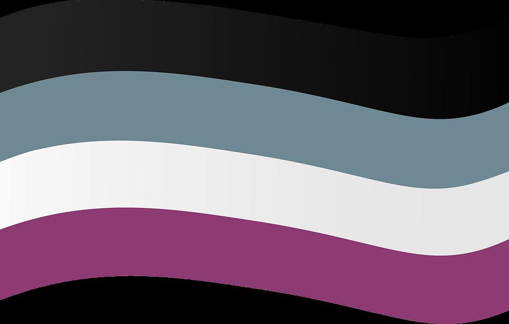 Die Asexuellen Pride Flagge