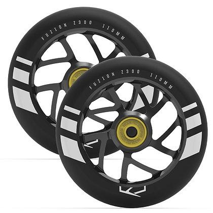 Колеса для самоката Fuzion 110 mm Wheel (pair) - Black Ano / Black PU