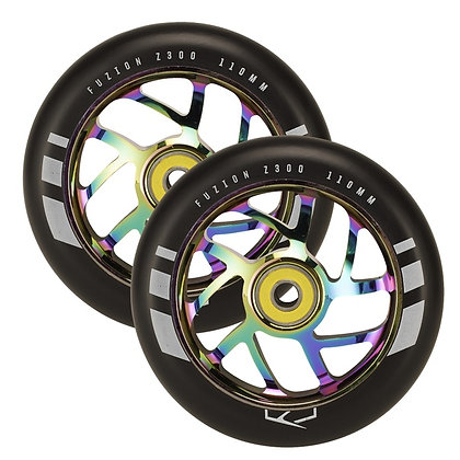 Колеса для самоката Fuzion 110 mm Wheel (pair) - Flight Neochrome / Black PU