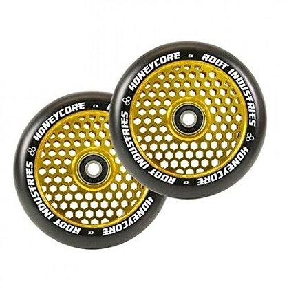 Колеса Root Industries Honeycore 110 мм Black/Gold Rush