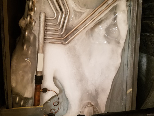 Troubleshooting an Air Conditioning System with a Frozen Evaporator