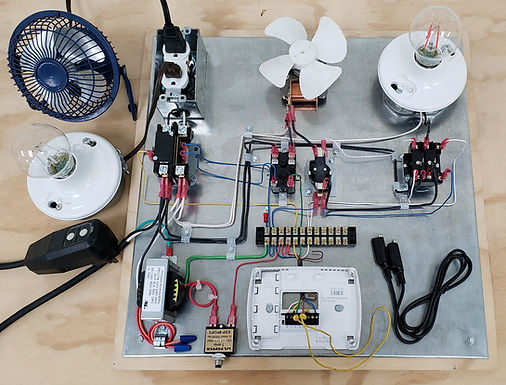 HVAC Electrical Training Board For Wiring, Components, Wiring Diagrams, Troubleshooting