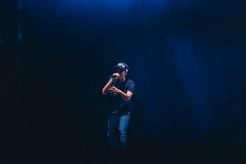 Performing rapper