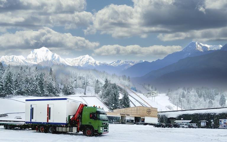 Containertransport Alpen