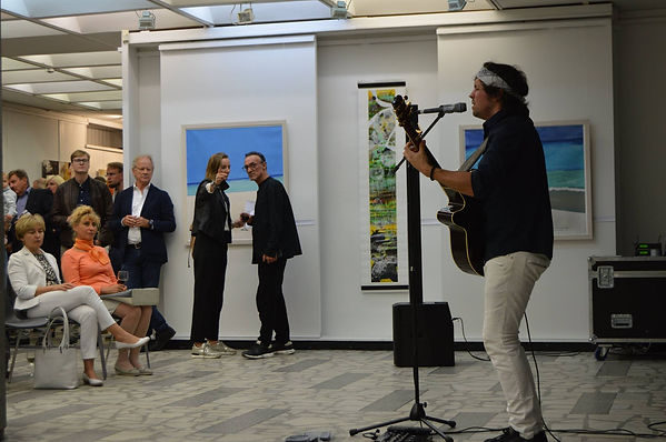 Performing at the Manuscript opening at