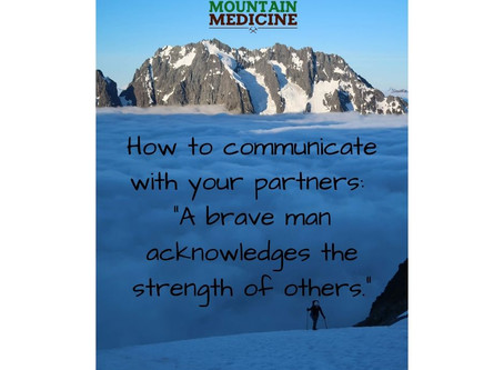 Healthy communication for adventure partners