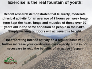 Exercise is the fountain of youth