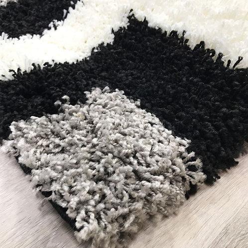 Nordic Tides Black/Grey 160x230cm