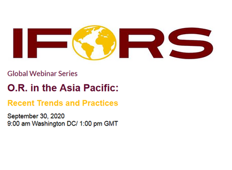 IFORS Global Webinar Sept 30  - OR in the Asia Pacific