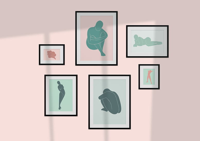 Abstract Figures Gallery Wall Set