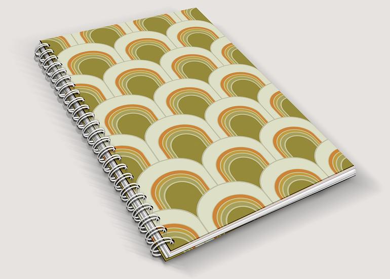 Geometric Retro Print A5 Notebook