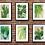Thumbnail: Retro House Plants | Wall Art | A3 or A4 | Set of 6 Poster Prints