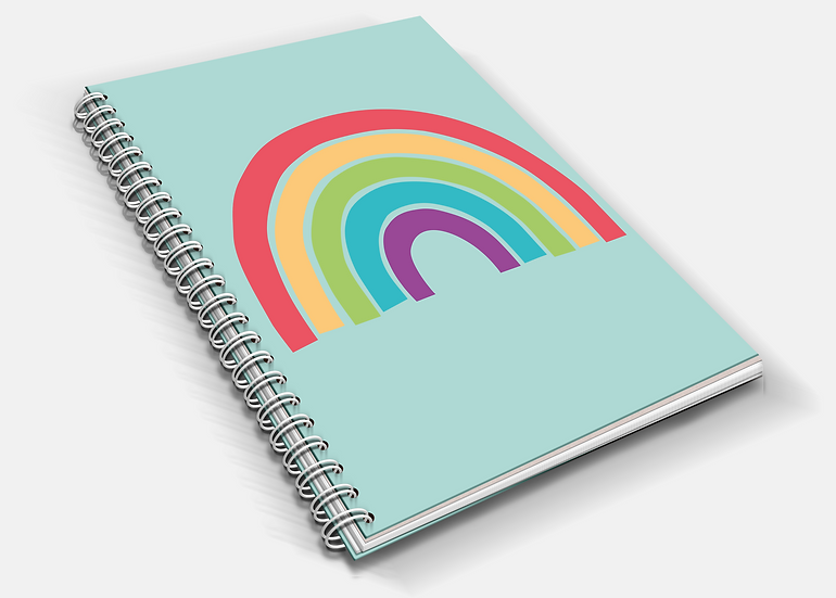 Bright Rainbow   A5 Notebook   Plain or Lined